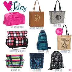 Totes by Thirty-One. Fall/Winter 2016. Click to order. Join my VIP Facebook Page at https://www.facebook.com/groups/1603655576518592/