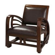 Split leather armchair in ... - Charleston