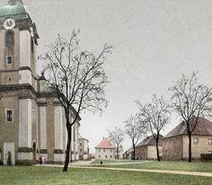 Chmel Architekti: Okolo kostela Architekti, Sketch, Graphics, Architecture, Painting, Art, Sketch Drawing, Arquitetura, Art Background