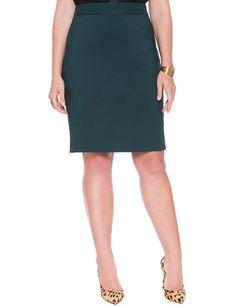Side Zip Pencil Skirt Black Forest