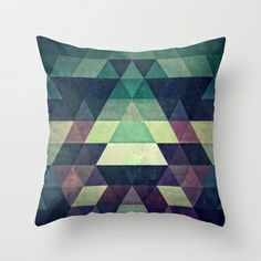 dysty_symmytry Throw Pillow by Spires - $20.00