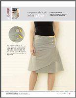 Asymmetrical Folds Skirt
