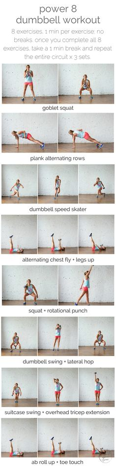 power 8 single-dumbbell workout | nourish move love http://www.weightlossjumpstars.com/best-workout-for-your-blood-type/