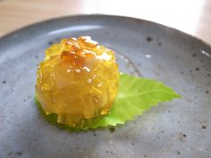"This wagashi sweet is called ""Sunflower""."
