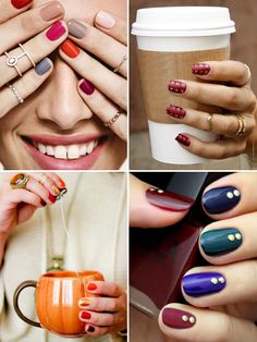 Autumn Nail Inspiration | see all the looks on www.onefabday.com