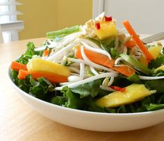 Green Mango Salad...a great idea for before the holidays!