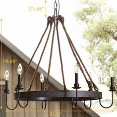 Rust 6 Light 31.5 Inches Wide Candle Style Chandelier