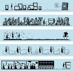 "New York Times magazine's  ""Riff"" essay 3 - illustrated by Tom Gauld"