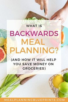 If youre looking to save money on groceries, backwards meal planning may be for you! When Im in a pinch, this is how I get my groceries on a budget, without coupons (I hate extreme couponing if you didnt know!). If youre meal planning on a budget, try this out - you may love it! #mealplanning #mealplanningonabudget #savemoneyongroceries