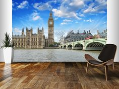 London Westminster wall mural room setting