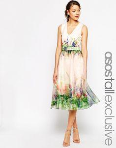 ASOS TALL SALON Beautiful Floral Organza Prom Dress with Cutout Back  / @kimludcom