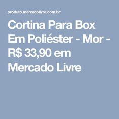 Cortina Para Box Em Poliéster - Mor - R$ 33,90 em Mercado Livre