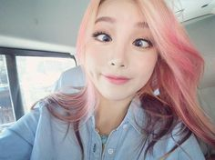 fanpage for pony. Park Hye Min, Wengie Hair, Pony Makeup, Unicorn Hair Color, Vibrant Hair Colors, Blonde With Pink, Ulzzang Korean Girl, Uzzlang Girl, Cool Hair Color