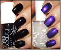 Wendy's Delights: Miss Beauty Gel Effect Nail Polish - Raven & Pearl top coat, exclusive to Poundworld @poundworld