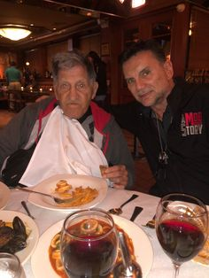 Father and son, former Colombo underboss Sonny Franzese and former Colombo capo Michael Franzese Real Gangster, Mafia Gangster, Michael Franzese, Italian Mobsters, Colombo Crime Family, Mafia Crime, Mafia Families, The Godfather, Gangsters