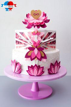 NOS CRÉATIONS - Lotus Mother - CAKE RÉVOL - Cake Design - Nantes