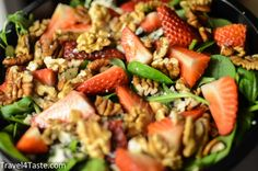 Spinach Salad with Strawberries and Blue Cheese