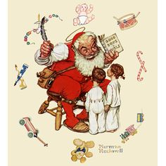 I love anything by Norman Rockwell but especially the Christmas prints.