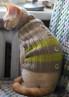 Soft Warm and Comfy Handmade Cat Small Dog Jumper by TrendyKitty Rare Cats, Cats And Kittens, Sheep Breeds, Dog Jumpers, Cat Dresses, Cat Sweaters, Sphynx, Cat Toys, Small Dogs