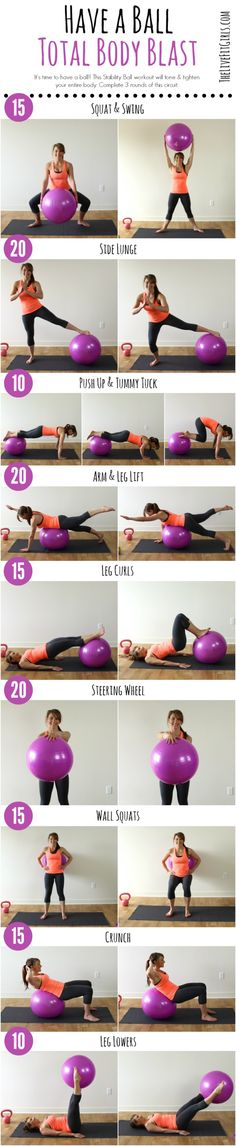 Total Body Stability Ball Workout