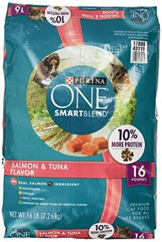 Purina One Cat Smartblend Salmon And Tuna Cat Food  Pound