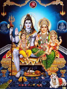 Shiva Shankar Parivar with Parvati Ganesha Murugan 🙏🏻💓🌟 Shiva Shakti, Shiva Parvati Images, Shiva Linga, Lakshmi Images, Shiva Art, Hindu Art, Krishna Art, Krishna Images, Lord Shiva Pics