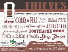 • Thieves • by Young Living Essential Oils. One of the 11 versatile oils found in the Premium Starter Kit. Find us at www.oilyworks.com, or on Facebook as Oily Works!