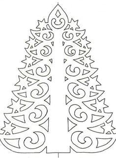 Christmas paper tree to make . Christmas Window Stickers, Diy Paper Christmas Tree, Christmas Tree Template, Paper Christmas Decorations, Noel Christmas, Christmas Crafts, Ideas Decoracion Navidad, Paper Lace, Crafty