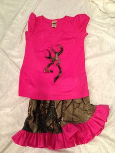 The Deer Lovers outift size 12 months up to size by CruzsDesigns, $27.00