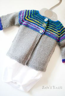 Linnie - top down baby cardigan free
