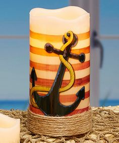 Loving this Anchor & Stripes LED Candle on #zulily! #zulilyfinds