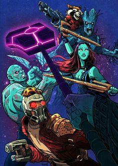 THW GUARDIANS OF THE GALAXY.