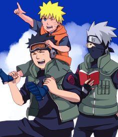 Obito, Naruto, and Kakashi. ;)
