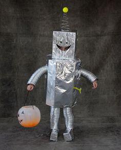 kinder halloween kostüme selber machen roboter
