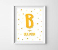 Custom Name Printable Art for Kids Room or Nursery by BabyCoStore