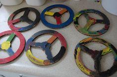 8 Astounding Useful Ideas: Car Wheels Craft Fun car wheels ideas race tracks.Old Car Wheels Ford Mustangs car wheels ideas vehicles.Car Wheels Diy Tips. Transportation Theme Preschool, Wheels On The Bus, Car Wheels, Creative Curriculum, Daycare Crafts, Toddler Art, Preschool Crafts, Toddler Activities, Steering Wheels