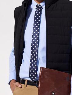 Inspired by the latest trends in fashion, the Skinny Tie is now available in Navy/White Polka Dot. The ideal accessory for the summer event season to add a pop of pattern & personality to your modern corporate or event staff uniforms. Staff Uniforms, Polka Dot Tie, Complimentary Colors, Summer Events, Skinny Ties, Latest Fashion Trends, Navy And White, Dapper, Neck Ties