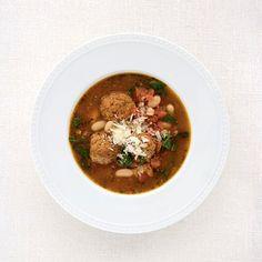Spinach-Pesto Meatball Soup - Fitnessmagazine.com