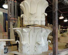 Cast Stone, Exterior column cap, column design Concrete Column, Precast Concrete, Stone Exterior, Column Design, Cast Stone, Home Photo, Petra, Interior And Exterior, Photo Galleries