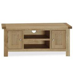 Dunelm Oakley Contemporary Design Light Brown Oak Wood TV Unit Stand