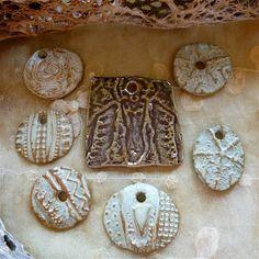 Sharilyn Miller glazed stoneware pendants