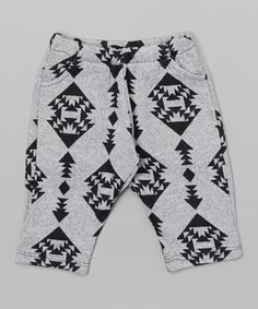 Loving this Black & Gray Geometric Pants - Infant on #zulily! #zulilyfinds