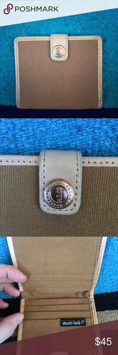 "Herschel Supply Company ""Thurlow"" Blue/white pinstriped interior  1 year warranty card Herschel Supply Company Bags Wallets"