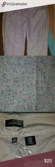 THE LIMITED PENCIL ANKLE PANTS GRAY TWEED SZ 14 BNWT! BEAUTIFUL DETAIL. SEE PICS. The Limited Pants Ankle & Cropped