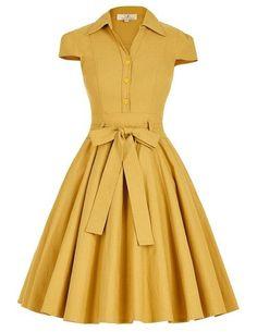 Belle Poque Women Dress Robe Vintage Black Amber Casual Ladies Dress Jurken Tunic 1950s Retro Rockabilly Big Swing Party Dress