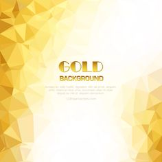 Light Golden Geometric Polygon Background Design