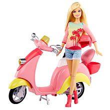 "Barbie - Puppe & Scooter - Mattel - Toys""R""Us Mattel Barbie, New Barbie Dolls, Barbie Clothes, Toys R Us, Barbie Real, Barbie And Ken, Pink Barbie, Barbie Playsets, Fashion Dolls"
