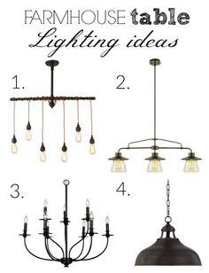 Lighting ideas for above a farmhouse table