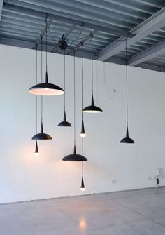 Pendant lamps in black | lighting . Beleuchtung . luminaires | Inspiration @ welcomeback |