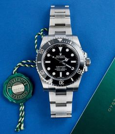 Manufacturers warranty used to be two years on a The green swing tag now signifies they're covered for five Luxury Watches, Rolex Watches, Cool Watches, Watches For Men, Sub Mariner, Rolex Tudor, Rolex Submariner No Date, New Rolex, Vintage Watches